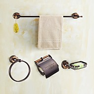 タオルバー タオルリング トイレットペーパーホルダー バスローブフック タオルウォーマー / オイルブロンズ クラシック風 モダンスタイル