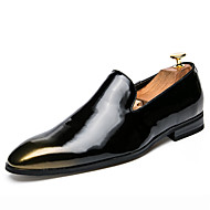 cheap Men's Slip-ons & Loafers-Men's Formal Shoes Patent Leather Fall Oxfords Black / Silver / Red / Party & Evening / Party & Evening / Office & Career