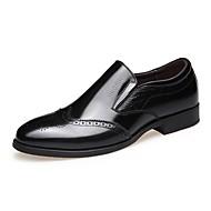 Masculino sapatos Pele Primavera Outono Conforto Mocassins e Slip-Ons Cadarço Para Casual Preto