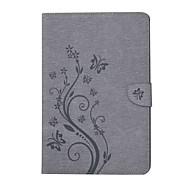 titular de cartão de padrão em relevo com suporte magnético porta-jóias saco de cartão de couro com padrão para samsung galaxy tab e t560