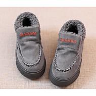 Недорогие -Мальчики обувь Бархатистая отделка Зима Осень Удобная обувь Флисовая подкладка Мокасины и Свитер для Повседневные Серый Вино