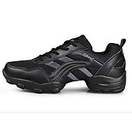 baratos Sapatilhas de Dança-Homens Tênis de Dança Tule Salto Plataforma Sapatos de Dança Branco / Preto e Prateado / Black / Orange / Ensaio / Prática