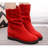 baratos Sapatos Femininos-Mulheres Sapatos Pele Nobuck / Couro Ecológico Outono / Inverno Botas da Moda / Coturnos Botas Sem Salto Botas Curtas / Ankle Café /