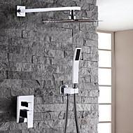 tanie Baterie prysznicowe-Bateria Prysznicowa - Nowoczesny / współczesny Chrom Budowa prysznica / Mosiądz
