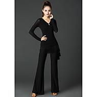 Baile Latino Pantalones y Faldas Mujer Rendimiento Seda Sintética Volantes Cintura Media Pantalones