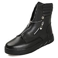 Masculino sapatos Couro Ecológico Primavera Outono Conforto Botas Para Casual Branco Preto Vermelho Branco/Preto