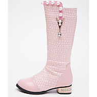 Girls' Shoes PU Fall Winter Comfort Fashion Boots Boots For Casual Blushing Pink Black White