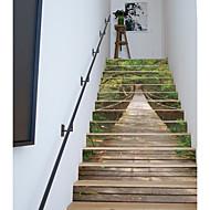 billiga Väggklistermärken-Känd Landskap 3D Väggklistermärken Väggstickers Flygplan Väggstickers i 3D 3D, Plast Papper Hem-dekoration vägg~~POS=TRUNC Golv