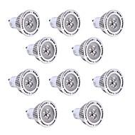 10pcs 3W GU10 LED-spotpærer 3 leds SMD 3030 Varm hvit Kjølig hvit 200-300lm 2800-3200/6000-6500
