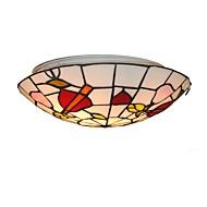 billige Taklamper-diameter 30cm tiffany tak lys glass skygge stue soverom spisestue flush mount