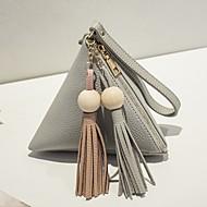 お買い得  コスメティックバッグ-女性用 バッグ PU 小銭入れ フラワー ブラック / ピンク / グレー
