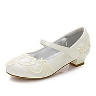 baratos Sapatos de Menina-Para Meninas Sapatos Cetim Primavera Verão Conforto / Bailarina / Tira no Tornozelo Saltos Apliques / Gliter com Brilho / Presilha para