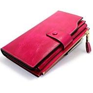 Women Bags Cowhide Wallet Zipper for Event/Party Formal All Seasons Black Fuchsia Coffee