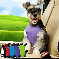 犬 車内用ドッグリード/犬用シートベルト 調整可能 ソリッド ナイロン ブラック パープル ブルー