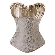 Corpete Lolita Clássica e Tradicional Cosplay Vestidos Lolita Preto Cinzento Dourado Corpete Tanga Para