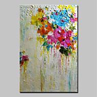 Maalattu Abstrakti Pysty,Abstrakti Moderni 1kpl Kanvas Hang-Painted öljymaalaus For Kodinsisustus