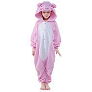 Kigurumi Pijamalar Piglet / Domuz Strenç Dansçı/Tulum Festival / Tatil Hayvan Sleepwear Halloween Pembe Solid Polar Kumaş İçin Çocuk