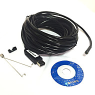 10m Waterproof USB 2.0 CMOS 7mm Lens 6-LED Snake HD Endoscope(Suitable for Laptop)