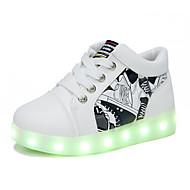 Para Meninos sapatos Couro Ecológico Outono Inverno Conforto Tênis Para Casual Branco Vermelho