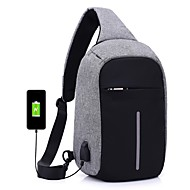 Unisex Bags Oxford Cloth Sling Shoulder Bag Zipper for Casual Outdoor All Seasons Black Dark Gray Purple