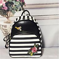 Women Bags All Seasons PU Backpack Zipper for Casual Black