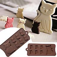 Cookieverktøy Kat Tekneserie Formet For Småkake Til Kake Til Småkaker For Godteri Kake Til Småkake Silikon