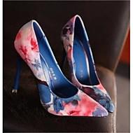 Női Cipő Bőr Tavasz Ősz Kényelmes Magassarkúak Tűsarok Erősített lábujj mert Hétköznapi Kék Rózsaszín