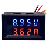 cheap Electrical Instruments-DIY Practical Dual 0.28 inch 3 Digit Red Blue LED Display Voltage Current Meter (DC 0 - 100V / 50A)