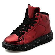 Dames Sneakers Modieuze laarzen TPU Herfst Winter Causaal Creepers Zwart Zilver Rood Onder 2,5cm