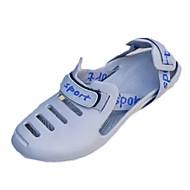 גברים נעליים PU אביב סתיו נוחות סנדלים עבור קזו'אל שחור אפור כחול