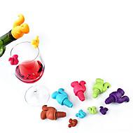 7pcs cute Eichhörnchen Weinflasche Stopper Silikon trinken Glas Tasse Marker Erkennung Etiketten zufällige Farbe
