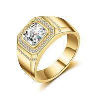 billiga Bröllops- och festsmycken-Herr Kubisk Zirkoniumoxid Bandring - Bergkristall 8 / 9 / 10 Guld / Silver Till Bröllop / Party