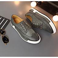 メンズ 靴 PUレザー 春 秋 コンフォートシューズ オックスフォードシューズ 用途 カジュアル ブラック グレー キャメル