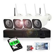 halpa -yanse® plug and play 4ch langaton nvr kit night vision turvallisuus IP kamera wifi-valvontajärjestelmä (sisäänrakennettu 1tb hdd)