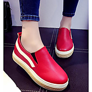 Women's Shoes PU Spring Fall Comfort Loafers & Slip-Ons For Casual Red Black White