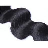 İşlenmemiş Hintli Saçı İnsan saç örgüleri Vücut Dalgası Saç uzatma 1 Siyah