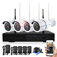 cheap NVR Kits-4CH 720P Plug and Play Wireless NVR Kits Waterproof IR Night Vision Security WIFI IP Camera 36LEDs Surveillance CCTV System