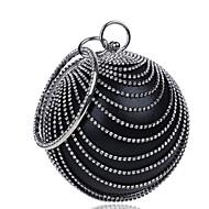 נשים שקיות כל העונות פוליאסטר תיק ערב כפתורים פרטים מפנינה ל קזו'אל פול שחור אודם