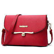 Women Bags PU Shoulder Bag Zipper for Casual All Seasons Black Red Blushing Pink Light Purple Sky Blue