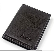 Men Bags Cowhide Wallet Zipper for Event/Party Formal All Seasons Black Coffee