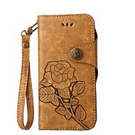 billiga Mobil cases & Skärmskydd-fodral Till Nokia Lumia 630 Nokia Lumia 640 Nokia Korthållare Plånbok med stativ Lucka Mönster Fodral Blomma Hårt PU läder för Nokia 6