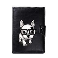 universel hund pu læderstativ cover taske til 7 tommer 8 tommer 9 tommer 10 tommer tablet pc