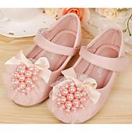 baratos -Para Meninas sapatos Micofibra Sintética PU Outono Inverno Sapatos para Daminhas de Honra Tênis Para Casual Bege Rosa claro