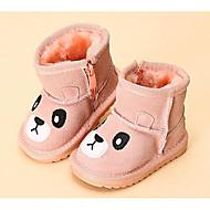 tanie Obuwie dziewczęce-Dla dziewczynek Obuwie Skóra bydlęca Zima Buty do nauki chodzenia / Śniegowce Botki na Fuksja / Różowy / Wielbłąd