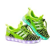 baratos Sapatos de Menina-Para Meninas Sapatos Tricô / Malha Respirável Outono / Inverno Tênis com LED Tênis LED para Azul / Rosa claro / Verde Claro / Festas & Noite