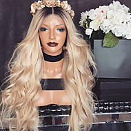 Women Synthetic Wig Lace Front Long Body Wave Blonde Middle Part Natural Wigs Costume Wig