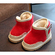 Baby Schoenen Gevlokt Winter Herfst Snowboots Fluff Lining Laarzen Voor Causaal Zwart Grijs Rood Roze