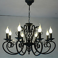 cheap -8-Light Chandelier Ambient Light Metal Candle Style 110-120V / 220-240V Bulb Not Included / E12 / E14