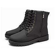 お買い得  メンズブーツ-男性用 靴 ラバー 夏 / 秋 コンバットブーツ ブーツ ブラック / Brown
