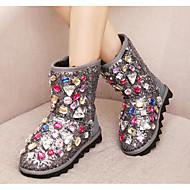 Meisjes Schoenen PU Winter Snowboots Fluff Lining Laarzen Voor Causaal Zwart Grijs